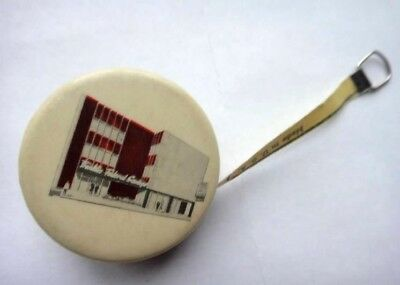 antique FRANKLIN FEDERAL BANK CELLULOID MINI TAPE MEASURE advertising sewing