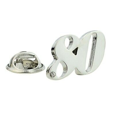 Rhodium Plated 40 Lapel Pin Badge with crystal decoration  X2AJTP010