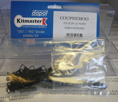 Dapol COUPNEMOO 40 Pack Of Couplings, Pockets And Mounts OO Gauge