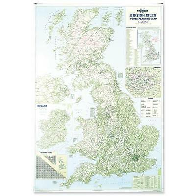 Large Laminated Dry Wipe Road Wall Map Of Great Britain/England 05322X
