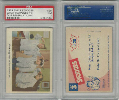 1959 Fleer, The 3 Stooges, #28 What Happened To Our, PSA 7 NM
