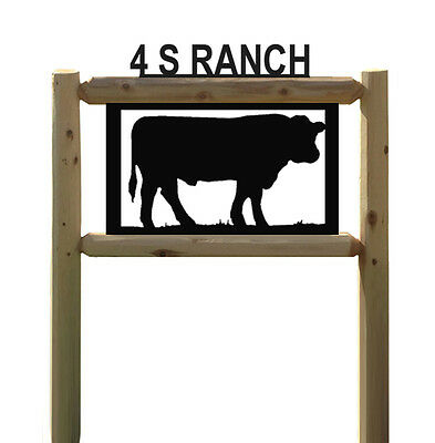 Cow Sign - Black Angus - Farm & Ranch Country Signs