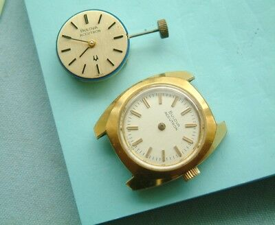 Bulova accutron 2300 humming wristwatch for repair With spare humming movement