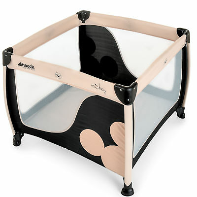 New Hauck Mickey Classic Play N Relax Square Travel Cot / Playpen From Birth