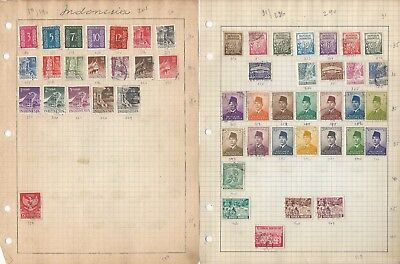 Indonesia Collection on 15 Quad Pages, All Different Lot