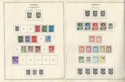 Indonesia Collection 1945-1972 on 63 Minkus Specialty Pages