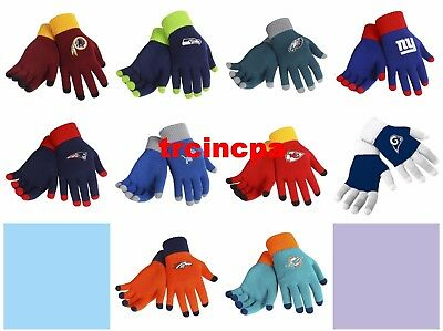 Forever Collectibles - NFL - Solid Stretch Knit Texting Gloves - Pick Your Team