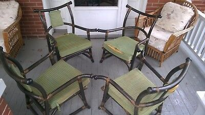 Tommi Parzinger Mid Century Modern MCM Pavilion Collection Set of 4 Table Chairs