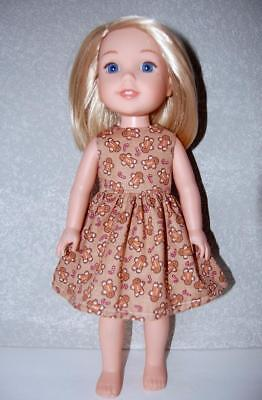 "Blue Snowflake Dress for 14/"" Wellie Wishers Doll Clothes by TKCT handmade"