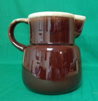 VINTAGE McCOY BROWN DRIP PITCHER #132--32 ounces