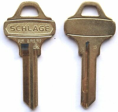 Lot of TWO Schlage Everest C123 UNCUT Key Blanks 6 Pin Commercial Lock Office