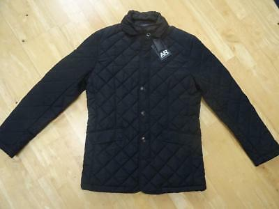 Austin Reed Mens Black Padded Quilted Jacket Coat Medium Bnwt New 29 00 Picclick Uk