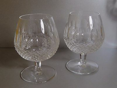 WATERFORD Crystal COLLEEN Pair BRANDY Glasses / Goblets