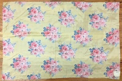 Beautiful Early 20th C. French Floral Silk Printed Fabric (2176 )