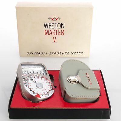 Collectible Vintage Weston Master V Exposure Meter – Boxed With Case