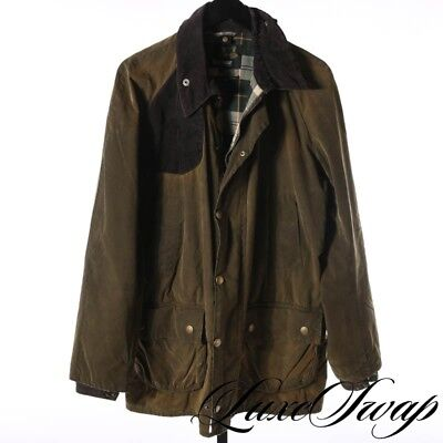 Barbour Made in England CRAZY PATINA Waxed Cotton Shap Jacket Shooting Patch L