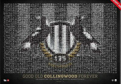 Collingwood Magpies 125Th Anniversary Good Old Collingwood Forever Mosiac Print