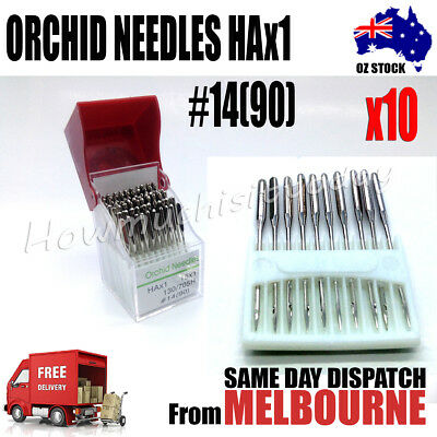 Orchid Needles for Sewing Machines, HAx1 #14(90), Pin: 0.9mm; 39x2x1.5mm