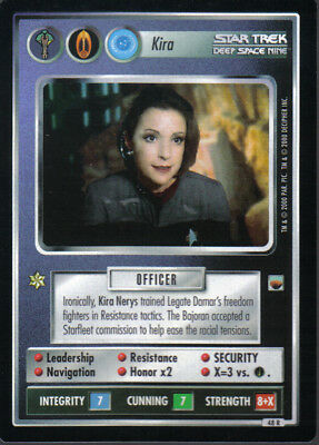 Star Trek Ccg Trouble With Tribbles Rare Card Kira
