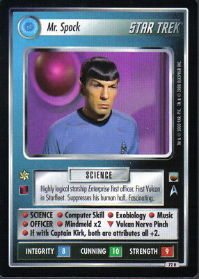 Star Trek Ccg Trouble With Tribbles Rare Card Mr. Spock