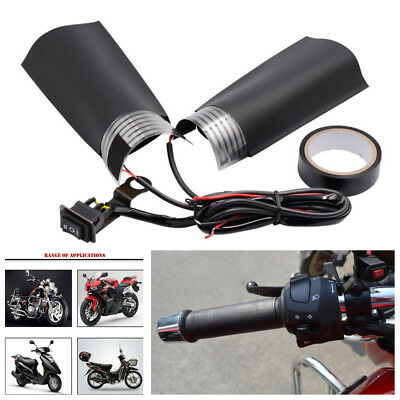 Piar 12V Motorcycle 3 Way Switch Adjustable Electric Handle Heater Warmer Kits