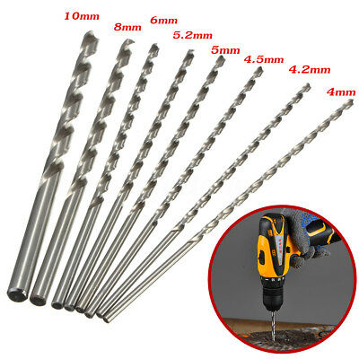 4-10mm HSS Twist Drill Straigth Shank Auger Drilling Bit Tool Extra Long 200mm