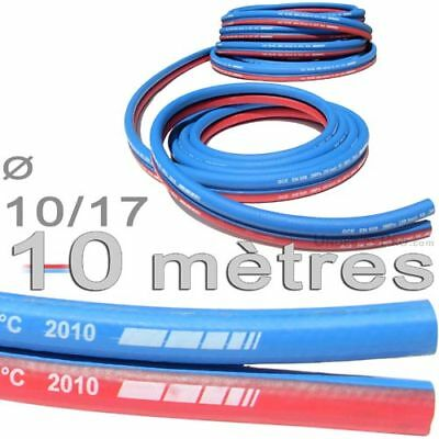 10 m flexible hose paired flame cutting gas ø 10/17