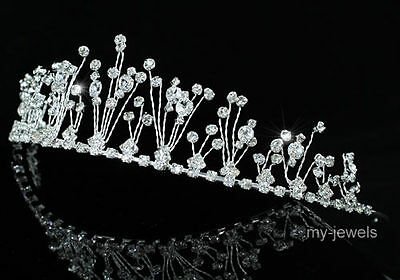 Bridal Wedding Pageant Tiara Prom Accessories Stylish Sparkling Crystal AT1230
