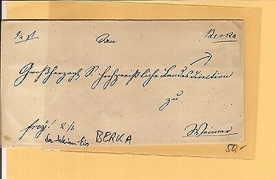 Th & T / Berka handschriftl. a. Kabinett-Brief nach Weimar (rs. L2) 1839