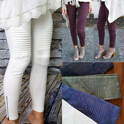 New Women Lady Denim Skinny Pants High Waist Stretch Jeans Slim Pencil Trousers