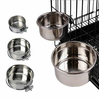 Dog Puppy Cat Pet Animal Cage Crate Run Hang-on Bowl Feeding Food Water Dish