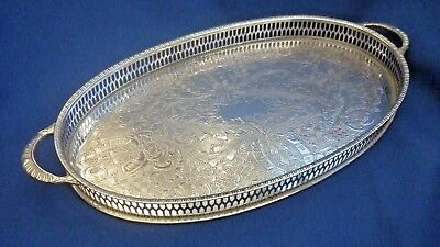 VINERS of SHEFFIELD SILVER PLATE VINTAGE BOTTLE GALLERY TRAY SUPER QUALITY PIECE