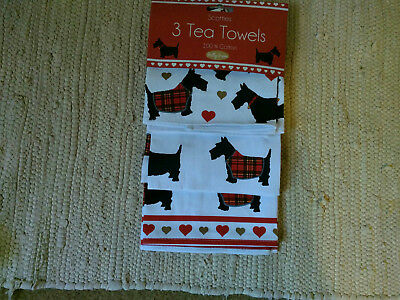 Scottie Scotty Dog Printed Tea Towels