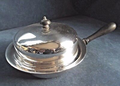 "SUPERB 7"" ~ SILVER Plated ~ 8"" Muffin SERVING DISH ~ c1900 by James Dixon"