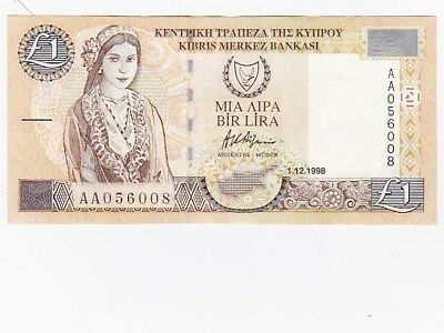 Cyprus 1998 1 Pound Banknote = Circulated