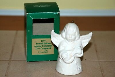 Goebel 1977 Second Edition Annual Christmas Tree Ornament Angel Bell