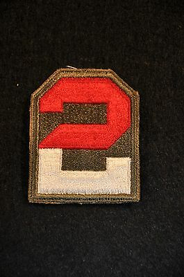 Wwii Us Army 'second Army' Ssi Shoulder Sleeve Insignia Patch Vg+