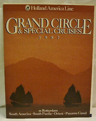 Grand Circle & Special Cruises Holland America Line ss Rotterdam 1987