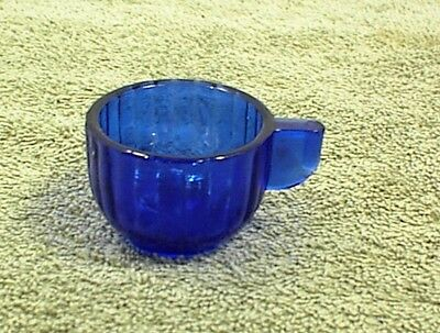Cobalt Blue Childs Cup Vertical Ribbed Akro Agate Children Kids