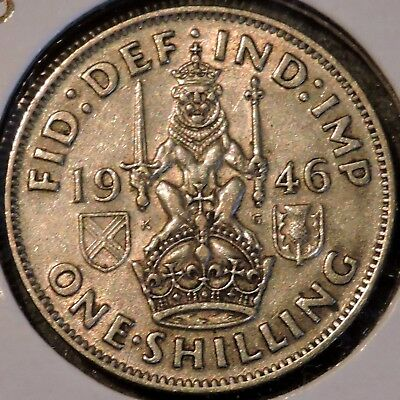 British Silver Shilling - 1946-S - King George VI - $1 Unlimited Shipping