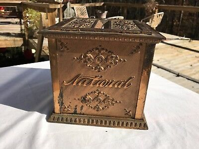 Antique National Cash Register Receipt Ticket Box NCR Store General Advertising