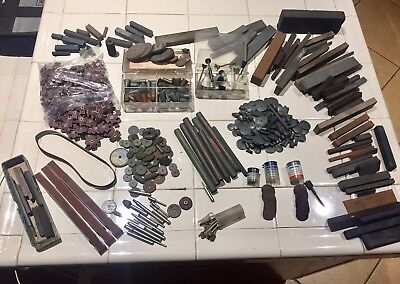 Huge Lot Of Cratex Rubberized Abrasives , Lapping Stones And Other Abrasives