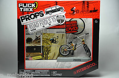 Flick Trix Props Road Fools 15 Fingerbike Fitbikeco - BMX Bicycle Miniature Set