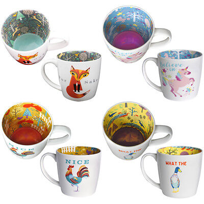 For Fox Sake What the Duck Nice Cock Believe in Unicorns Inside Out Mug