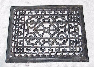 Vintage cast iron heating grate grill vent cover register 10x13 raised face