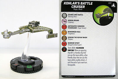 Heroclix - #017 Kohlar's Battle Cruiser - Star Trek Tactics IV