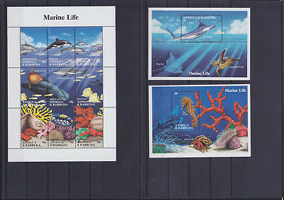 055925 Fische Fish Antigua & Barbuda 2000-08 + Block 294/95 ** MNH Year 1994