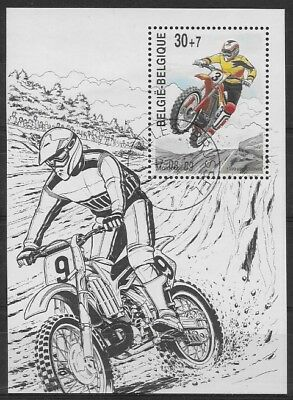 Belgium - Sheet - 1999 - COB 79 - SCOTT B1151 - Motocross - Used -
