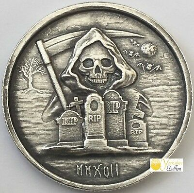 2017 5oz Silver High Relief Round - The Grim Reaper