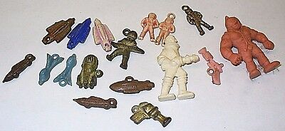 Vintage Lot: 15 Cracker Jack Gumball Toys Outer Space Ray Guns Alien Rocket Cars
